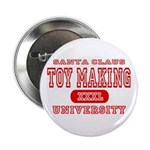 Santa Toy Making University Button