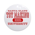 Santa Toy Making University Ornament (Round)