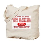 Santa Toy Making University Tote Bag