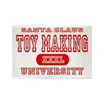 Santa Toy Making University Rectangle Magnet