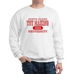 Santa Toy Making University Sweatshirt