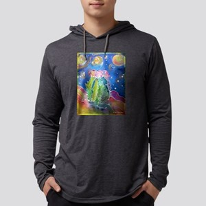 cactus at night! soutwest art! Mens Hooded Shirt