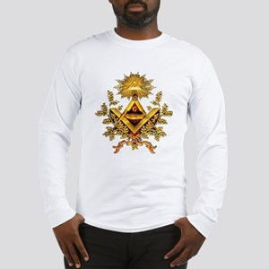 squarecompass-white Long Sleeve T-Shirt