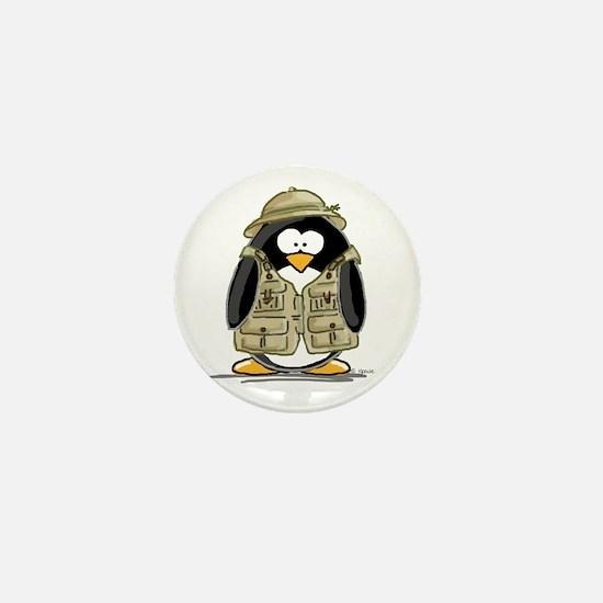 Safari Penguin Mini Button