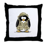 Safari Penguin Throw Pillow