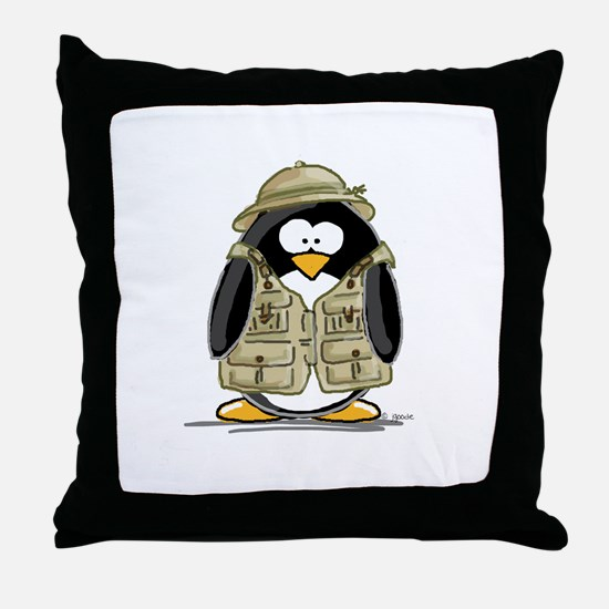 Safari Penguin Throw Pillow