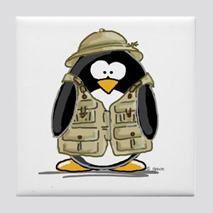 Safari Penguin Tile Coaster