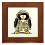 Safari Penguin Framed Tile