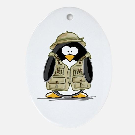 Safari Penguin Oval Ornament