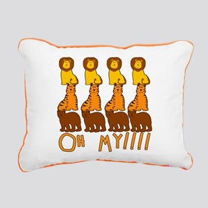 LIONS TIGERS BEARS OH MY Rectangular Canvas Pillow