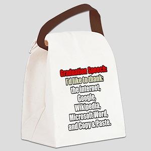 GRADUATION SPEECH Canvas Lunch Bag