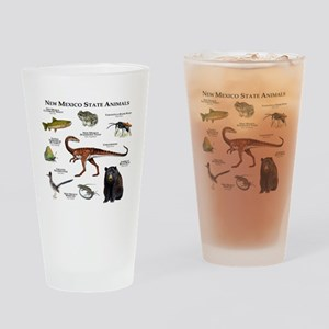New Mexico State Animals Drinking Glass