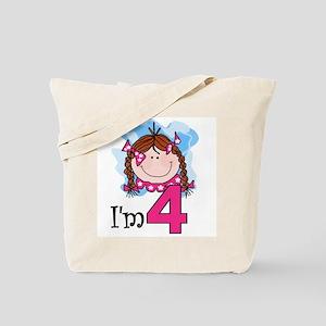 I'm 4 Redhead Girl Tote Bag