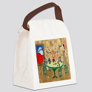Merry Christmas from Texas Canvas Lunch Bag