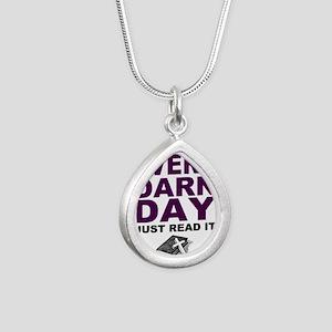 Every Darn Day Silver Teardrop Necklace