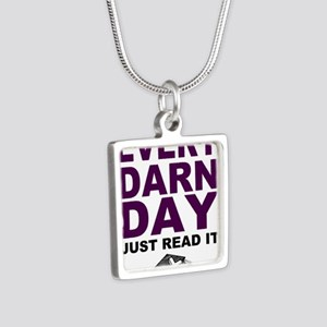 Every Darn Day Silver Square Necklace