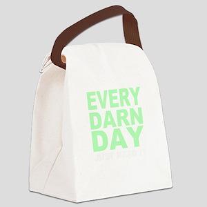 Every Darn Day (dark) Canvas Lunch Bag