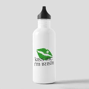 Kiss Me I'm Irish Stainless Water Bottle 1.0L