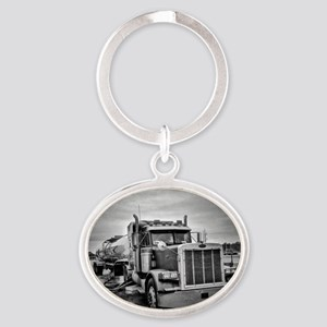 Big Red On The Job Oval Keychain