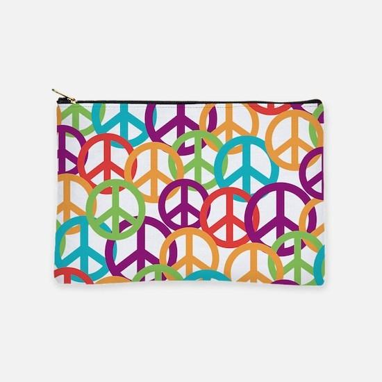 Colorful Peace Symbols Makeup Pouch