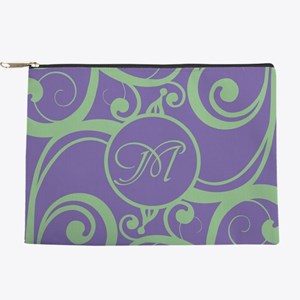 Your Monogram Whimsy Purple Makeup Pouch