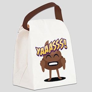 Emoji Poop Yaaasss! Canvas Lunch Bag