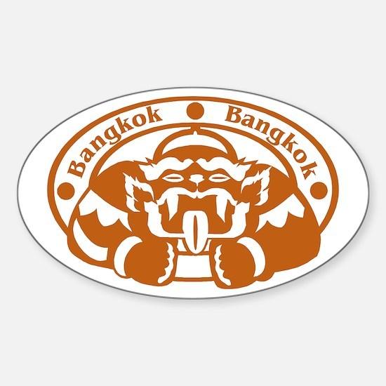 Bangkok Passport Stamp Oval Decal