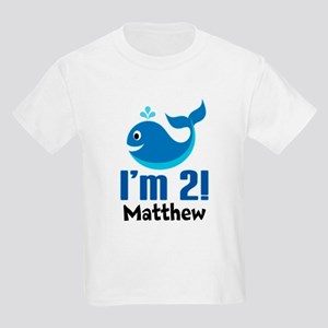 2nd Birthday Whale Personalized T-Shirt