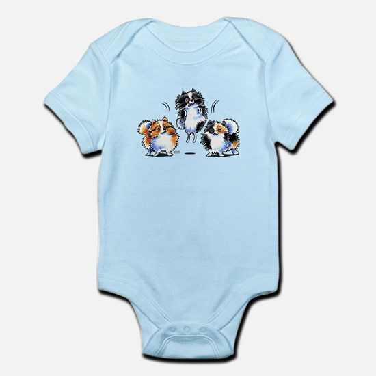 Parti Pomeranians Body Suit