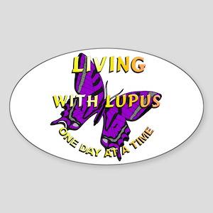 Lupus Awareness Oval Sticker