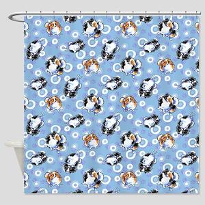 Parti Pomeranians Shower Curtain