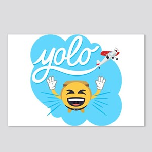 Emoji Smiley Face YOLO Postcards (Package of 8)