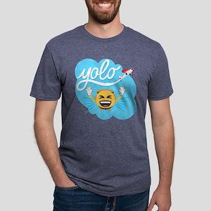 Emoji Smiley Face YOLO Mens Tri-blend T-Shirt