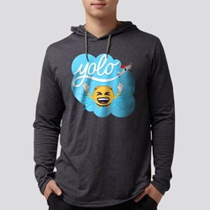 Emoji Smiley Face YOLO Mens Hooded Shirt