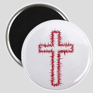 Pretty red christian cross 1 L w Magnet