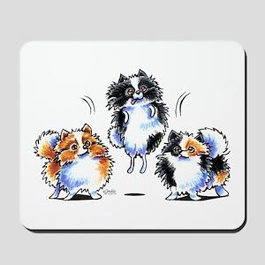 Parti Pomeranians Mousepad