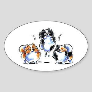 Parti Pomeranians Sticker