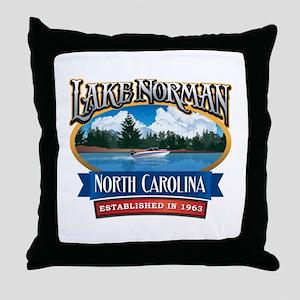 Lake Norman Waterfront Logo Throw Pillow