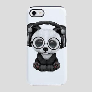 Cute Baby Panda Wearing Headphones iPhone 7 Tough
