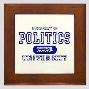Politics University Framed Tile
