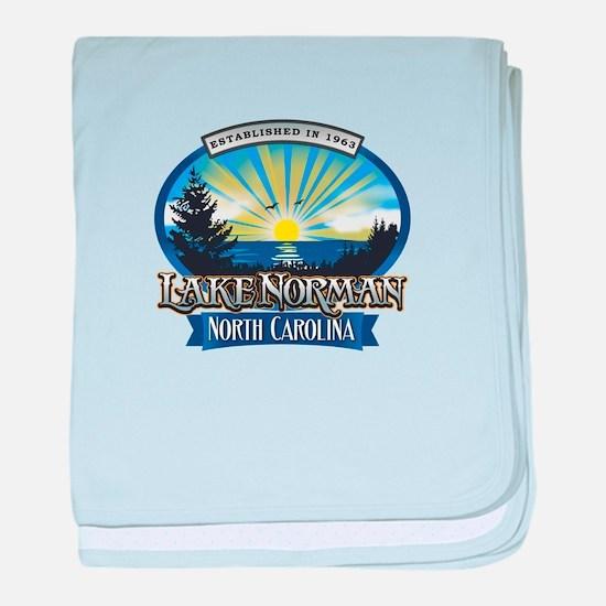 Lake Norman Sun Rays Logo baby blanket