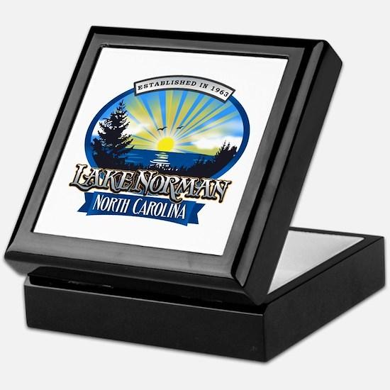 Lake Norman Sun Rays Logo Keepsake Box