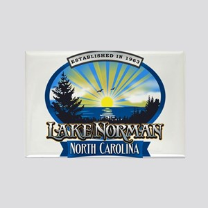 Lake Norman Sun Rays Logo Rectangle Magnet
