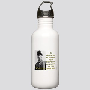 To Improve Is To Change - Churchill Water Bottle