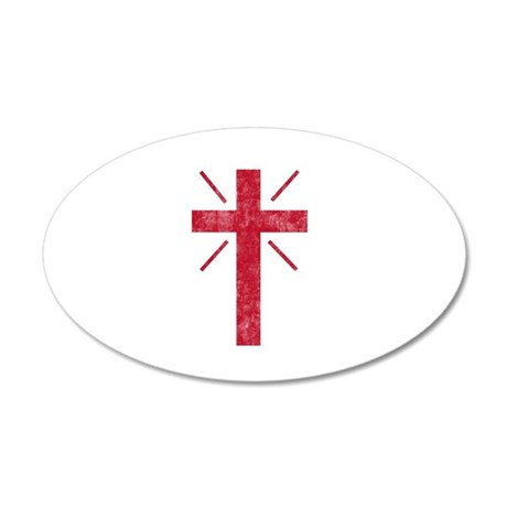 Pretty red christian cross 1 U P Wall Decal
