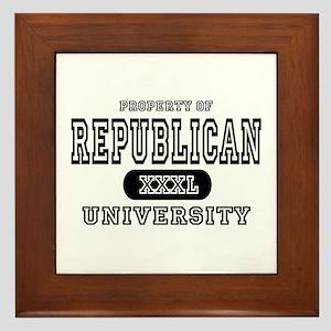 Republican University Framed Tile