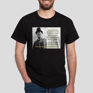 True Genius Resides - Churchill T-Shirt