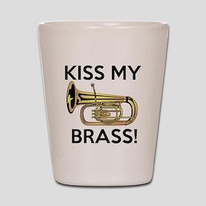 Kiss My Brass Tuba Shot Glass