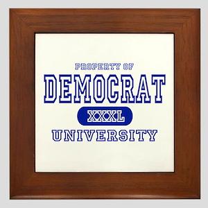 Democrat University Framed Tile