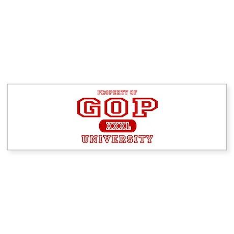 GOP University Bumper Sticker
